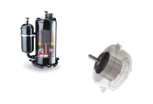 Compressore DC inverter e motore BLDC